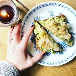 avocado toast sauerkraut
