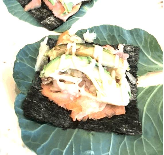 Collard Salad Wraps